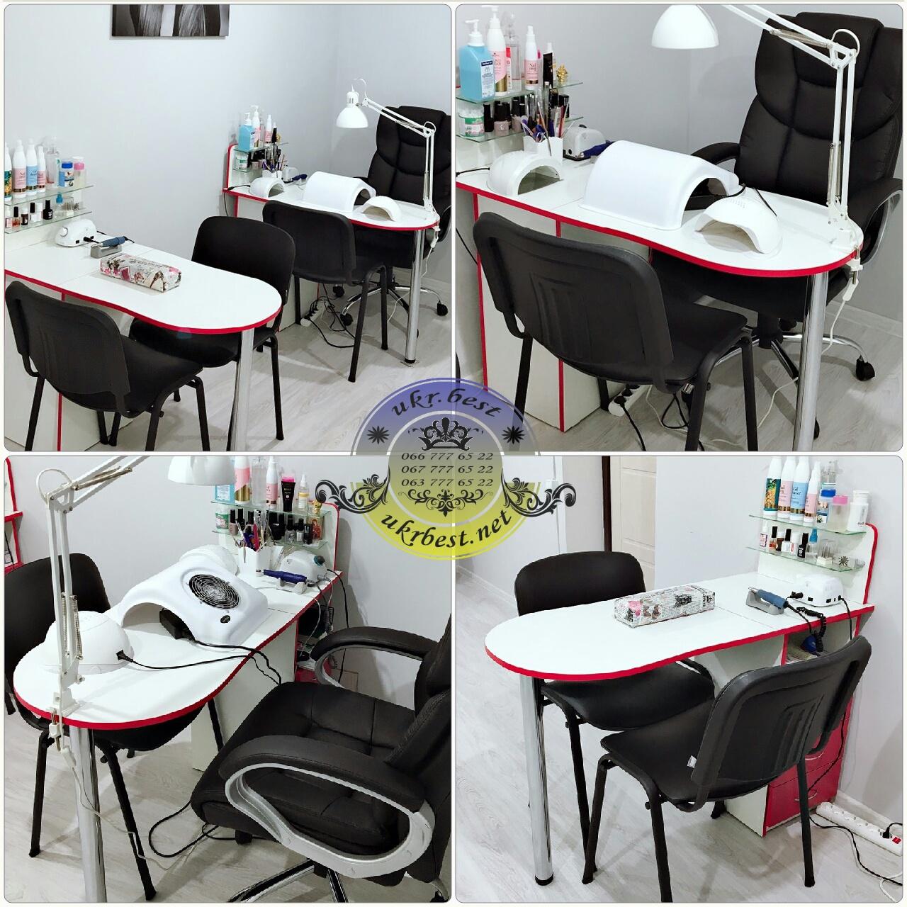 Складной маникюрный стол с выдвижными ящиками - мебель для маникюрного салона