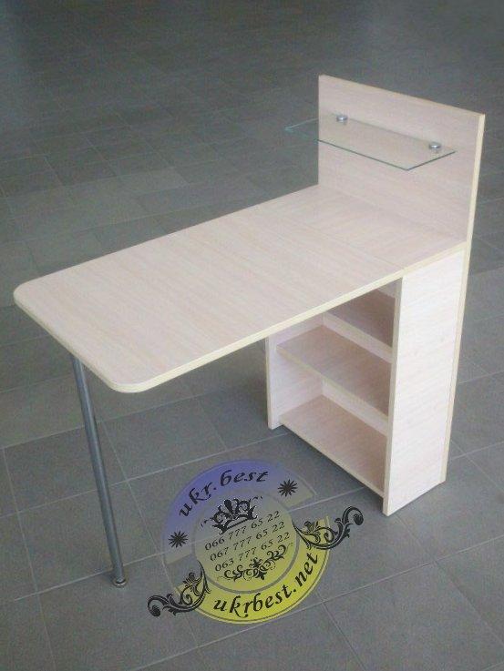 Складывающийся компактный столик для маникюра - трансформер.  Компактное рабочее место мастера на дому, дополнительная мебель для маникюрного салона - заказать по цене производителя в Украине.