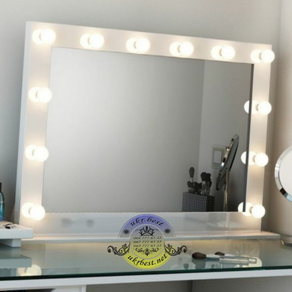 Купить гримерное зеркало визажиста настольное в Украине 100*80 см