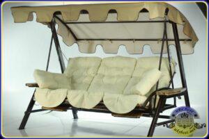 Бежевые садовые качели Техас Люкс - уличная мебель UkrBest, Украина