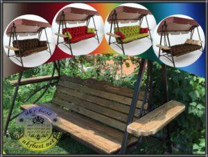 Садовые качели Прованс с мягкими подушками - разные цвета.