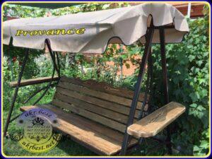 Садовые качели Прованс от UkrBest - мебель в саду клиента.