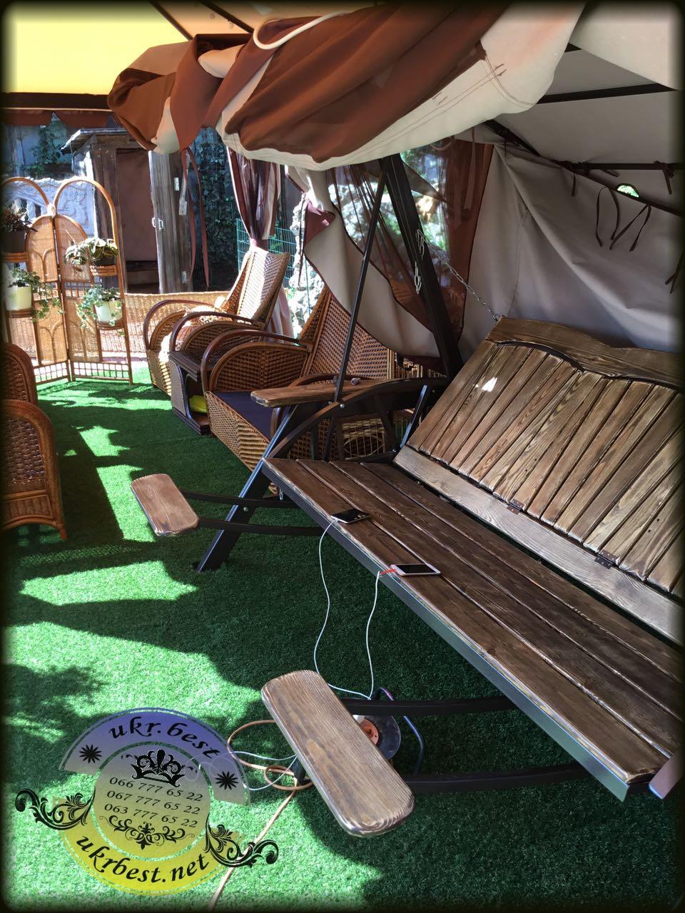 Фото клиента UkrBest - садовые качели Техас Люкс и другая уличная мебель.