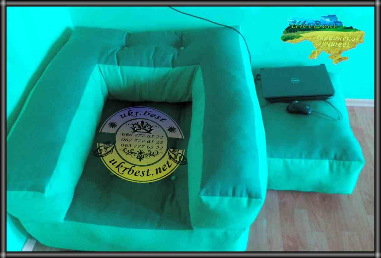 """Раскладывающееся в кровать мягкое кресло и пуф """"Классик"""".  Эксклюзивная бескаркасная мебель собственной разработки и производства """"UkrBest"""" - Украина.  https://youtu.be/sf7CVCz7lWo  В нашем интернет-магазине вы можете посмотреть фото и видео обзоры, а так же заказать бескаркасное кресло-кровать в Украине.  Дизайнерская мебель по доступной цене от прямого производителя в Украине - """"УкрБест""""!.."""