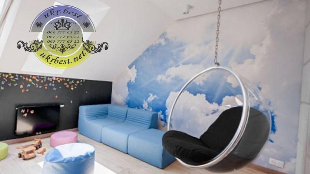 Подвесное кресло шар бабл чэйр в интерьере