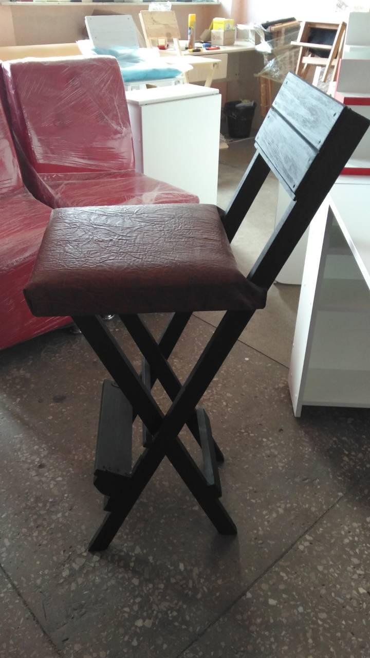 Купить мягкий складной высокий стул в Киеве