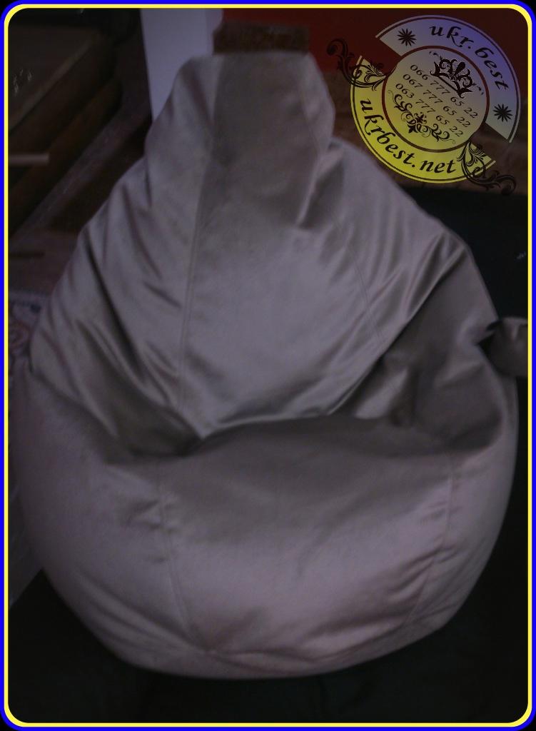 Мягкое бескаркасное кресло-мешок (кресло-груша) из элитного велюра Миссони.  Эта дизайнерская бескаркасная мебель сделана по индивидуальному заказу в Украине, разработчик - компания UkrBest мебель.