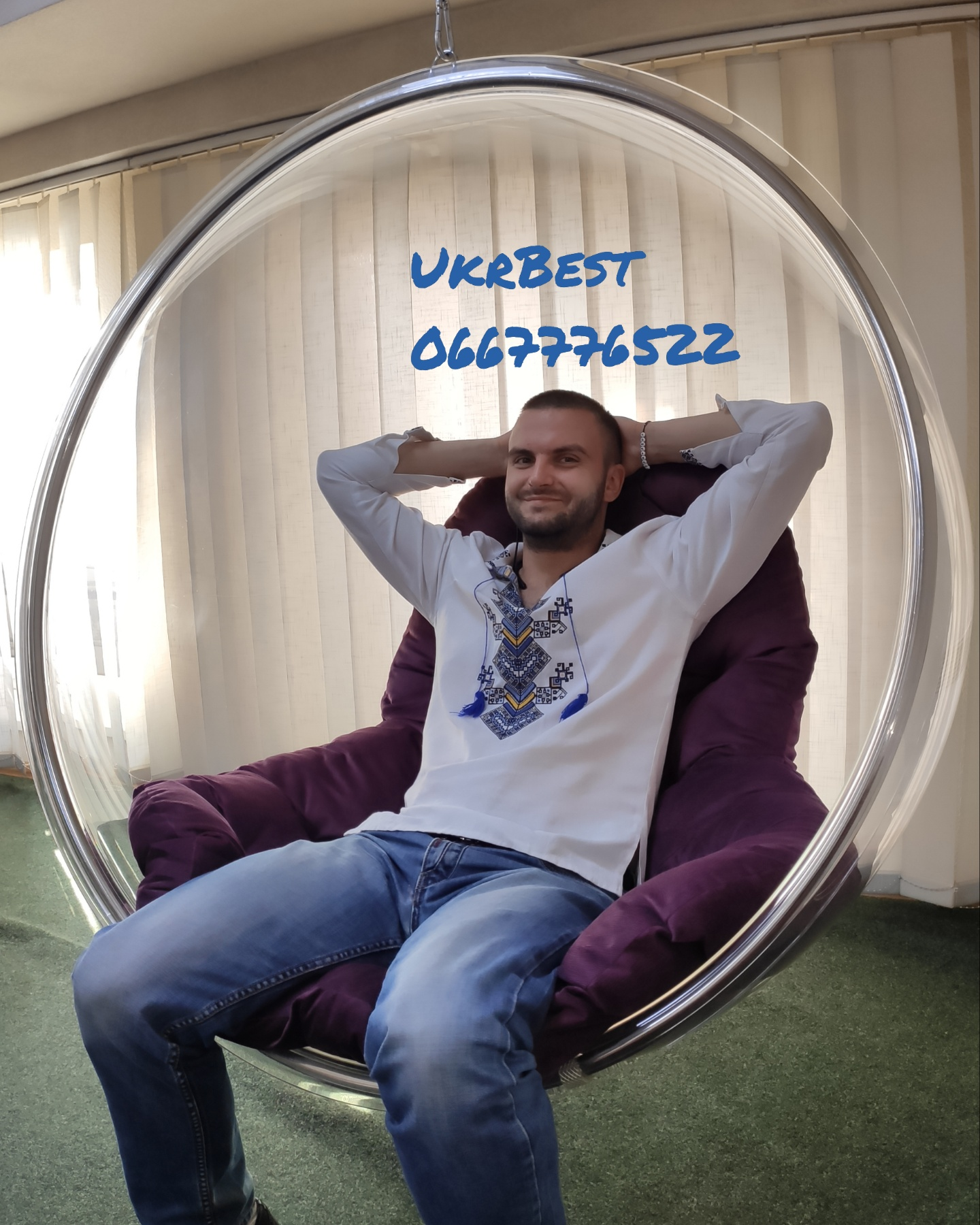 Прозрачное подвесное кресло шар, Украина, Киев