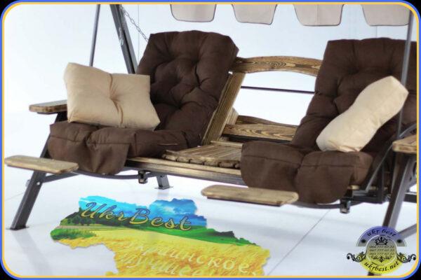 Выбрать и заказать уличную мебель от производителя в Украине - садовые качели от UkrBest
