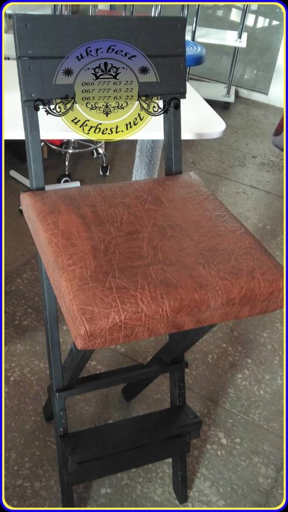 Высокий складывающийся стул визажиста из массива натурального дерева с мягким сидением и спинкой по индивидуальному заказу.  https://youtu.be/7ZbCYhKdjC0  Рабочее место мастера красоты, макияжа и причёсок, мебель для парикмахерской, оборудование для салона - купить в наличие или заказать оптом по цене производителя в Украине - в магазине UkrBest.